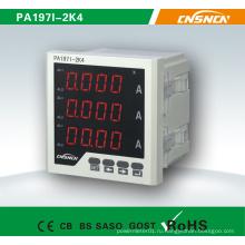 72 * 72mm Заводская цена Светодиодный дисплей AC Трехфазный цифровой амперметр