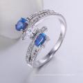 jewelry zhefan mini order making blue opal ring