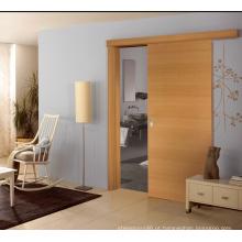 Porta deslizante de Warmful do quarto, projeto forte da porta da madeira de carvalho