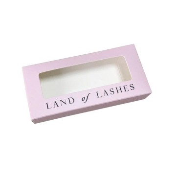 Custom design eyelashes paper box with window