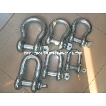 Us Type Drop Forged Galvanized Screw Pin Lifting Bow Shackles for Lifting (G210)