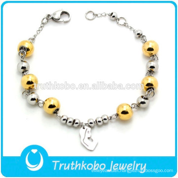 Wholesale Stretch Beaded Bracelet with Virgin Mary Charm Rosary Jewelry
