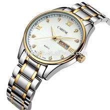 relógios de quartzo em aço inoxidável de alta qualidade com diamantes