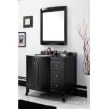 Gabinete de baño moderno reflejado gabinete principal de madera uno (JN-8819717B)