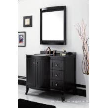 Деревянный главный шкаф зеркальный современный шкаф ванной комнаты (ин-8819717B)