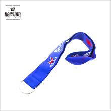 Nuevo estilo más popular diseño personalizado tejido elástico poliéster cordón con logotipo del bordado