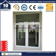 Ventana abatible de aluminio de la ventana exterior del panel doble