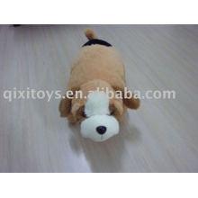 gefüllte Plüsch Doggy Kissenhülle, weiches Tierkindersitzkissen Spielzeug, Winterkissen