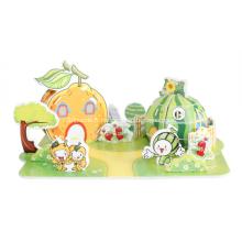 Puzzle maison fruits 3D