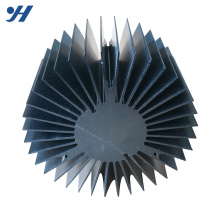 Customized Sunflower Shaped Aluminum extrusion Profile round aluminum heatsink