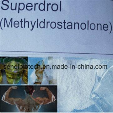 Pharmaceutical Grade Anaboil Esteroide Methasteron Superdrol en polvo para el edificio del músculo