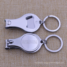 Stock Chrome Finish Nail Clipper with Laser Engraving Logo