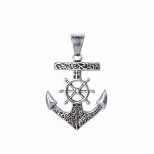33431 design de mode xuping bijoux en acier inoxydable pendentif croix forme viking ancre