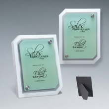 Super Quality Acrylic Clipped Corner Riser Plaque
