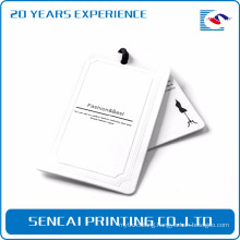 SenCai white tag clothing brand hang tag for jean pant