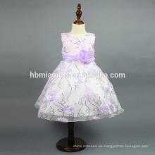 Vestido de niña de lentejuelas de modelo nuevo Vestido de verano de niña de flor estéreo con lentejuelas para fiesta de fiesta occidental