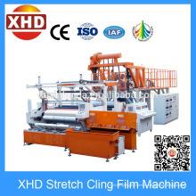 Máquina de la película del estiramiento de cinco capas, máquina que hace de la película del estiramiento del PE