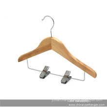 Solid Natural Wooden Children′s Clothes Clips Hanger, Baby Hangers