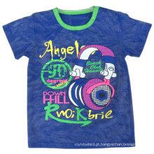 T-shirt do menino da venda inteira, t-shirt do homem, roupa do homem, roupa das crianças