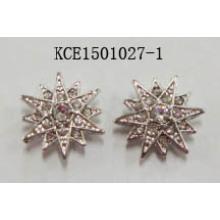 Star Metal Silver Plated Earrings