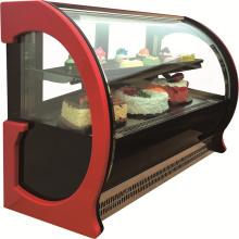 Exhibición de la torta de la ventana de vidrio escaparate para panadería