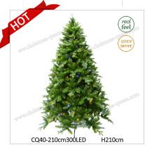 H6FT Пластиковая сосна Prelit Искусственная новогодняя елка со светодиодными фонарями
