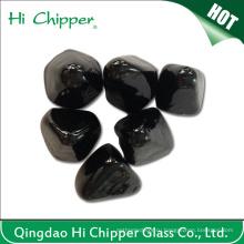 Алмазная форма Черный камень огня ямы камень