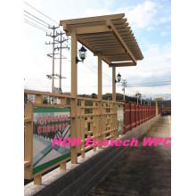 Huasu WPC Plant Eco Friendly Rpl Материал для ограждения перголы