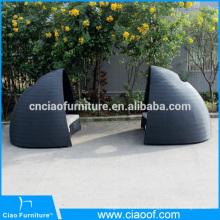 2 pièces nouveau solarium rond en rotin extérieur