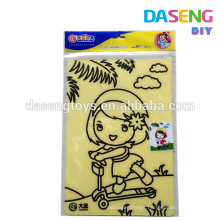Wholesale cheap colorful sand art toy simple packaging sand cards toys