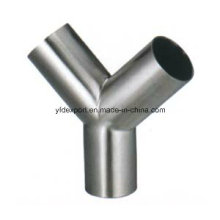 Polished Y Type Sanitary Stainless Steel Equal Tees