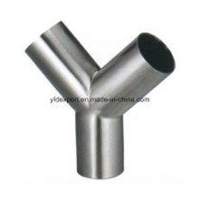 Полированная Y Тип Санитарная нержавеющая сталь Равные тройники