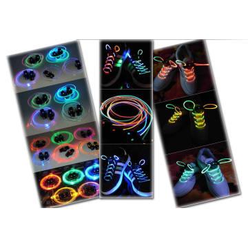 Рекламные светодиодные мигающий шнурки с модный и красивый, высокое качество