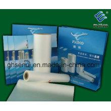Película laminada de laminación térmica mate OPP (película de tacto suave)