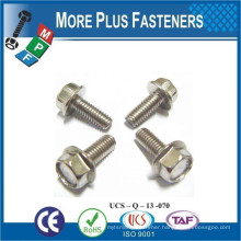 Made in Taiwan Hexagon Head Bolt with Flange with Serration and without Serration Stainless Steel