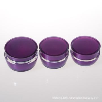 30g Double Wall Acrylic Jar Purple Jar Plastic Jar