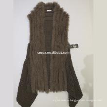 16HLC2501 cashmere vest with fur