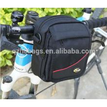 durable green/navey blue 1680D bike handlebar bag