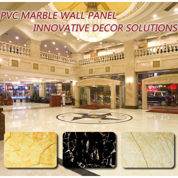 Venta caliente 3D Pvc panel de pared de mármol de materiales de decoración