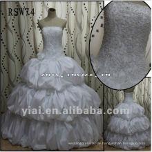 RSW74 Qualitäts-herrliche wulstige Spitze-geschwollene Blasen-Rock-Taft-Hochzeits-Kleid