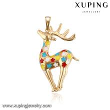 32779-Xuping Feminino jóias charme pingente de cervos coloridos