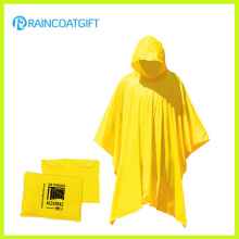 Waterproof Reusable Yellow Plastic Rain Poncho