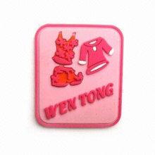 Remiendo de goma de la manera, etiqueta de goma, insignia de goma