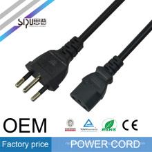 SIPU enchufe de alta calidad del cable de alimentación de Brasil para el cable eléctrico de cobre al por mayor de la computadora el mejor precio del cable eléctrico