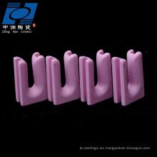 Pieza tipo u de cerámica rosa