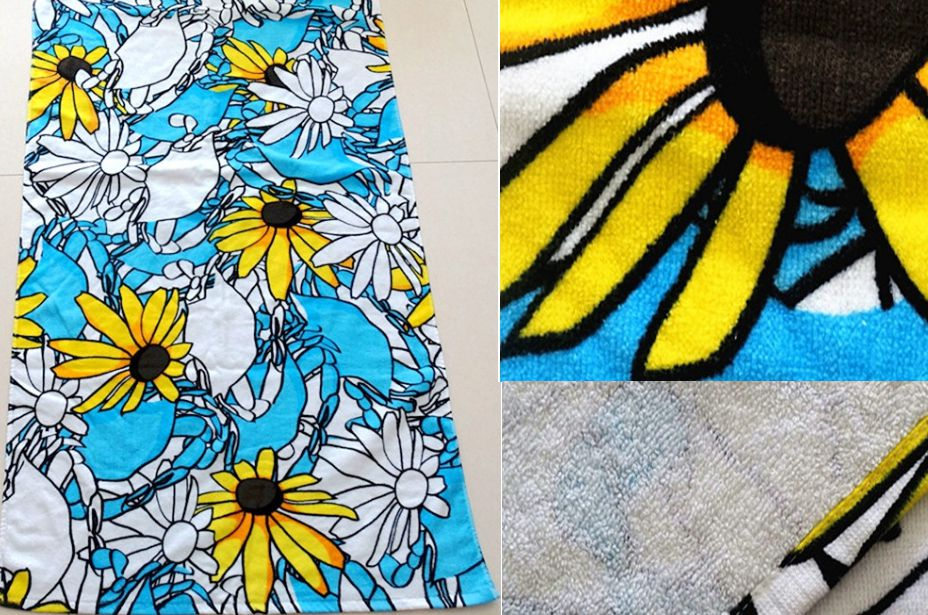 Sunflower Printed Bath Towels