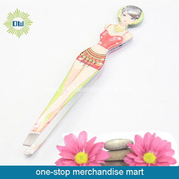 Sexy Lady Stainless Steel Eyebrow Tweezers Set