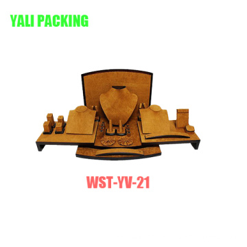 Mdfcotaed Yellow Velvet Jewelry Display Suit Manufacturer Wholesale (WST-YV-21)