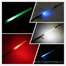 Fabriqué en Chine en fiber de verre canne à pêche LED tige lumineuse 2.10mt canne à lancer