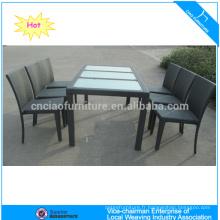 Élégant jardin rotin KD meubles de salle à manger (2107 + 2003C)